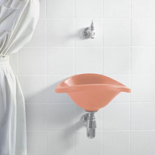 lavandino sospeso / tondo / in poliuretano