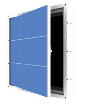 sportello d'ispezione per parete / per soffitto sospeso / quadrato / in acciaio