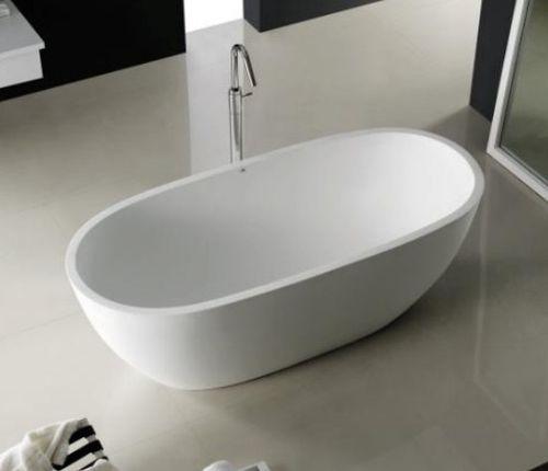 Vasca da bagno da appoggio / ovale / in Solid Surface ATLANTIS COCOON