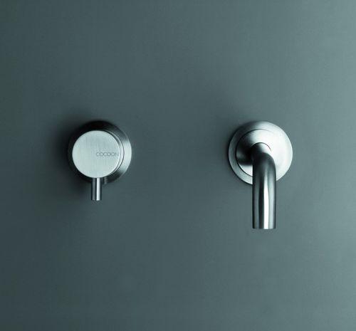 Miscelatore per lavabo / da parete / in acciaio inox / da bagno MONO SET01 COCOON
