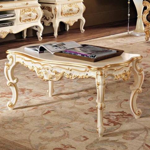 tavolino basso in stile / in legno / rettangolare / da interno
