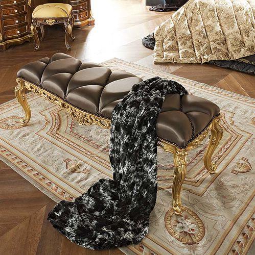 divanetto imbottito in stile / in tessuto / da interno / viola
