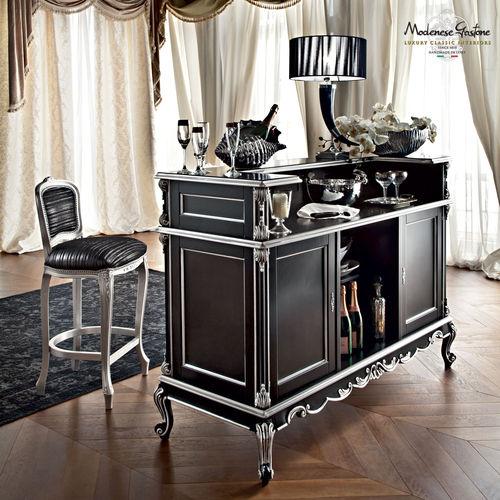 mobile bar in stile / in legno / nero