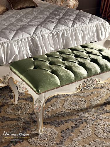 divanetto imbottito in stile / in tessuto / da interno / verde
