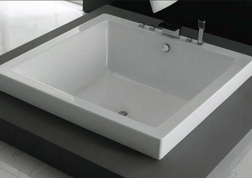 vasca da bagno quadrata / in quarzo