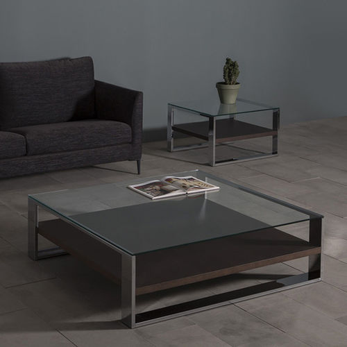 Tavolino basso moderno / in quercia / in noce / in MDF laccato SOLEO by Vicente Gallega KENDO MOBILIARIO
