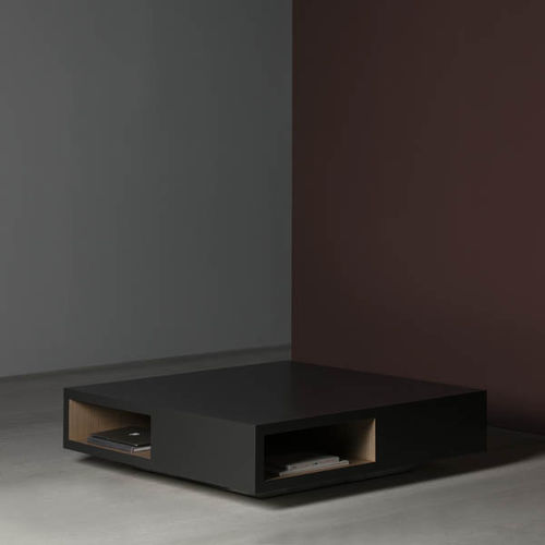 Tavolino basso moderno / in MDF laccato / quadrato / da interno VERA by Serafín Redondo KENDO MOBILIARIO