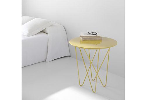 Tavolo d'appoggio moderno / in metallo / rotondo YOSHI by Discoh  KENDO MOBILIARIO