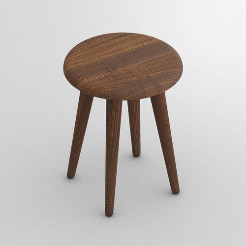 sgabello moderno / in quercia / in legno massiccio / in faggio