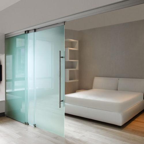 parete scorrevole / in alluminio / vetrata / da ufficio