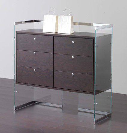 cassettiera per ufficio in legno / 3 cassetti / a chiave