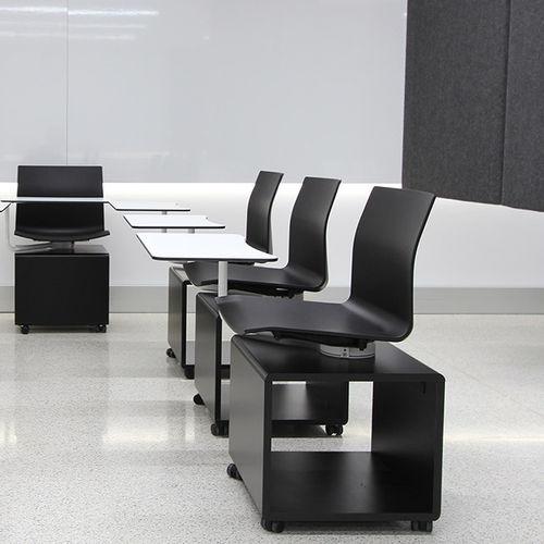 sedia da conferenza moderno / imbottito / con rotelle / con tavoletta