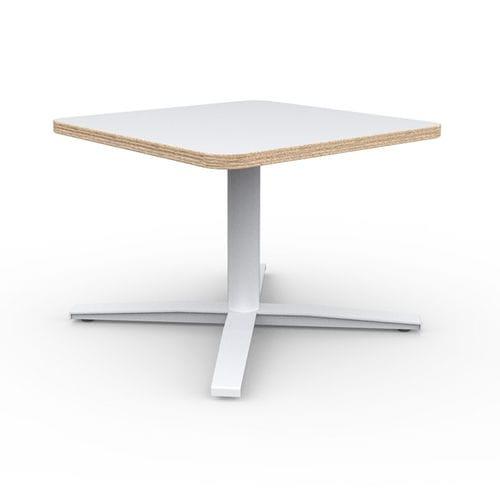 tavolo d'appoggio moderno / in laminato / tondo / quadrato