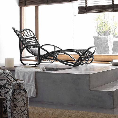 chaise longue moderna / in rattan