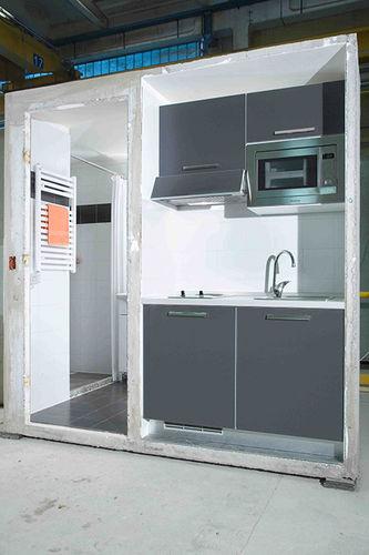 cucina moderna / in acciaio / in acciaio galvanizzato / in calcestruzzo