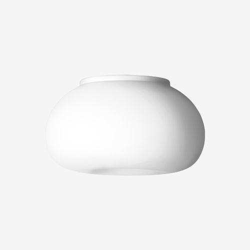 plafoniera moderna / tonda / in vetro soffiato / in metallo