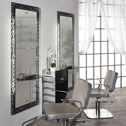 mobile da toeletta moderno / in metallo / da parete / per parrucchiere