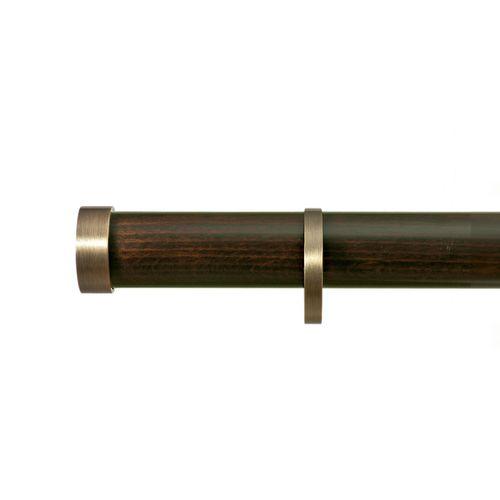 bastone per tende in metallo / in legno