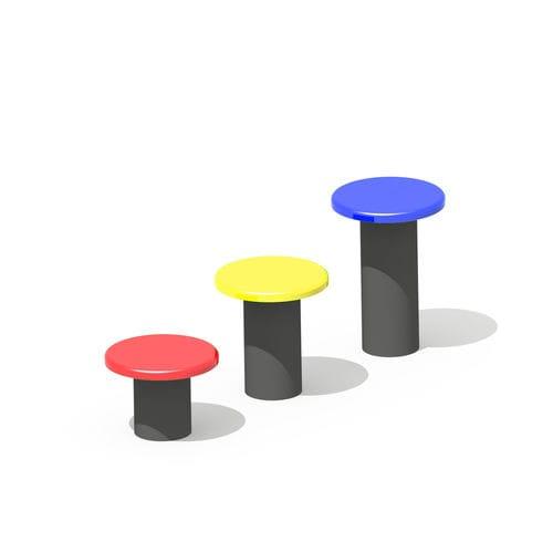 sgabello design pop / in fibra di vetro / in resina / per spazio pubblico