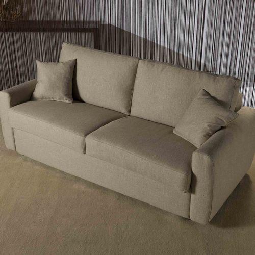 divano letto / moderno / in tessuto / 3 posti