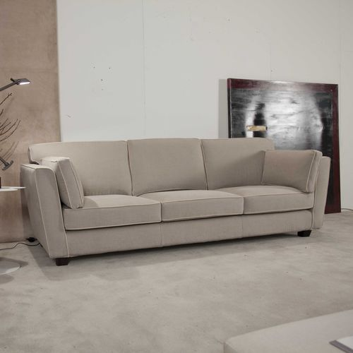divano moderno / in tessuto / 3 posti / beige