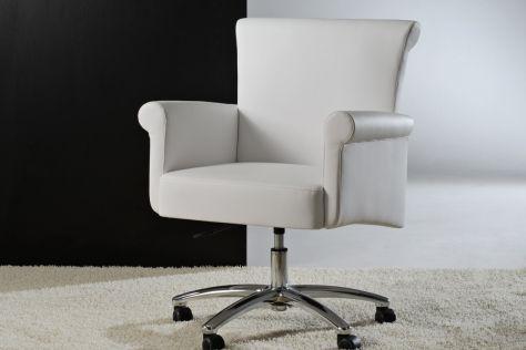 poltrona da ufficio moderna / in tessuto / girevole / con rotelle