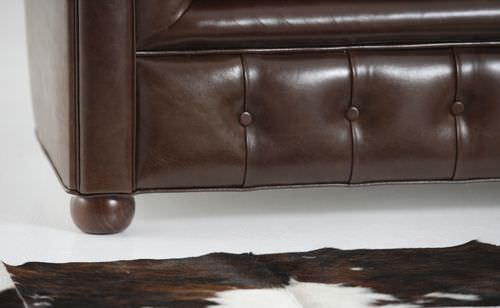 dormeuse chesterfield / in pelle