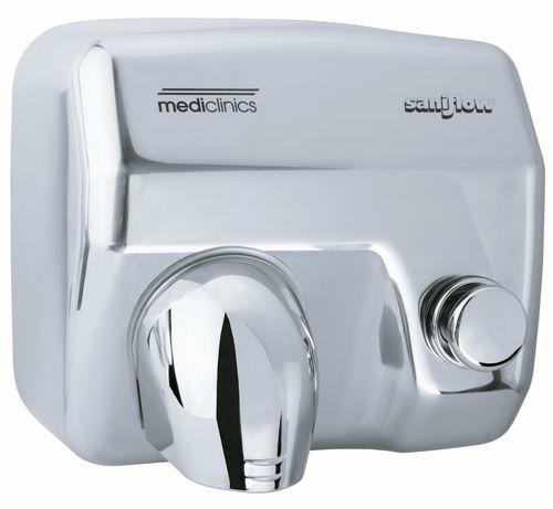 asciugamani elettrico a pulsante / da parete / da incasso / in acciaio inox