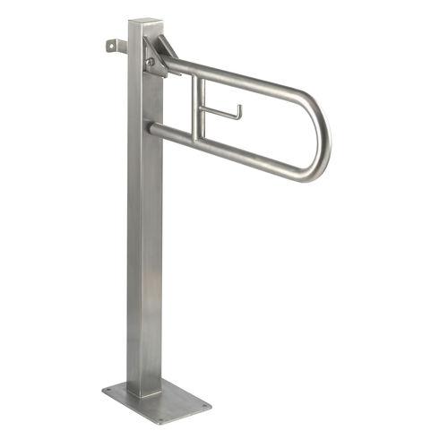 barra di sostegno in acciaio inox / a forma di U / a pavimento / contract
