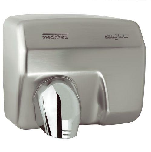 asciugamani elettrico automatico / da incasso / da parete / in acciaio