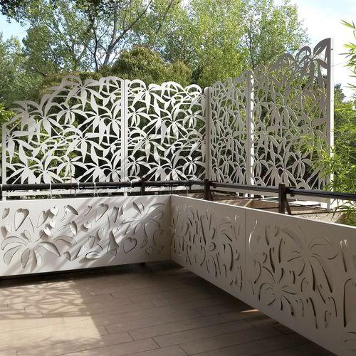 Schermatura in alluminio / da giardino / per terrazza / su misura Logical Space design