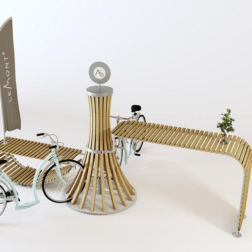 rastrelliera per biciclette in acciaio galvanizzato / in alluminio / in legno / design originale
