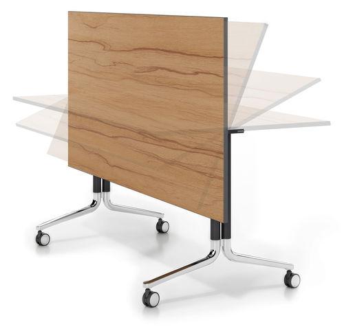tavolo da conferenza moderno / in legno / rettangolare / pieghevole