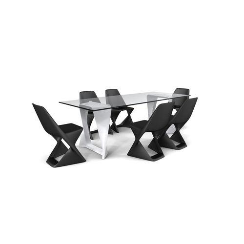 tavolo moderno / in vetro / in HPL / polimerico
