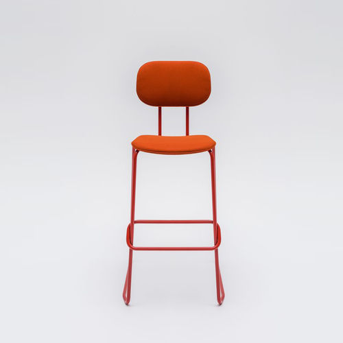 sedia alta moderna / imbottita / con poggiapiedi / con braccioli