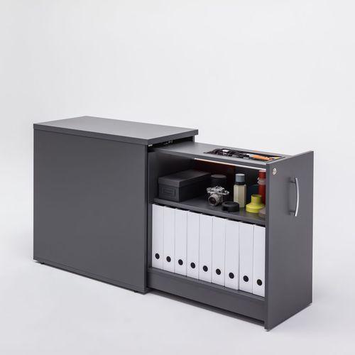 cassettiera per ufficio in melamminico / 1 cassetto / modulare