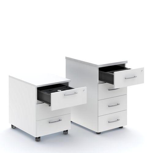 cassettiera per ufficio in metallo / in melamminico / 3 cassetti / 4 cassetti