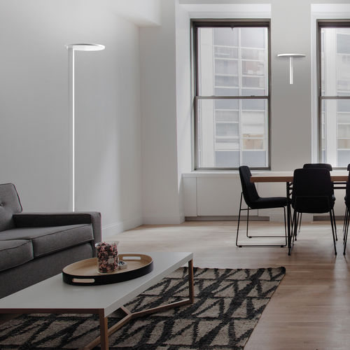 lampada da terra / moderna / in ghisa di alluminio / in metacrilato