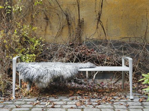 panca pubblica / design scandinavo / in legno