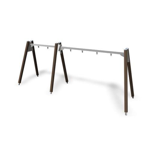 altalena in legno / in acciaio / per parco giochi / multipla