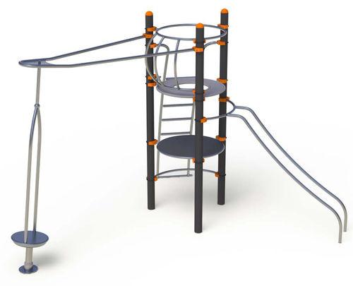 struttura ludica per enti locali / in acciaio / in acciaio inox