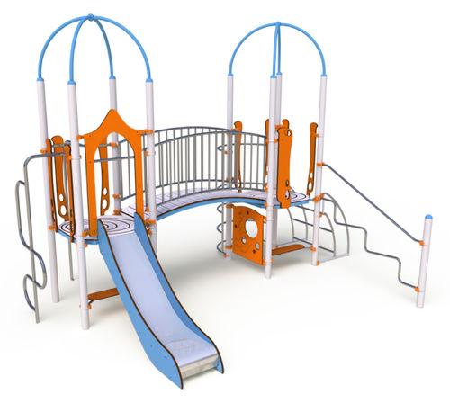 struttura ludica per enti locali / in HPL / in acciaio inox / modulare