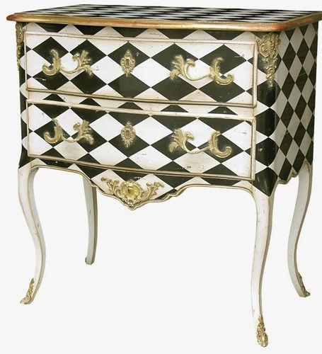 cassettone in stile Luigi XV / in legno laccato / in faggio / bianco