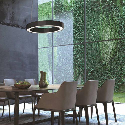 luce a sospensione / LED / tonda / in alluminio estruso