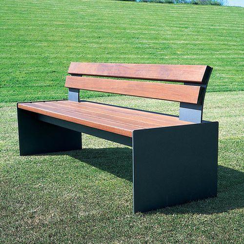 panca pubblica / moderna / in legno / in acciaio