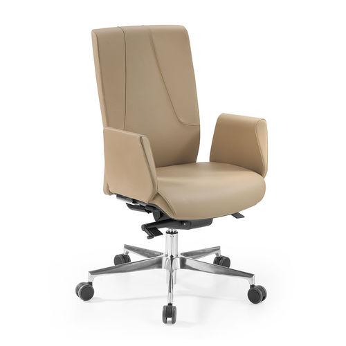 sedia da ufficio moderna / con braccioli / imbottita / con rotelle