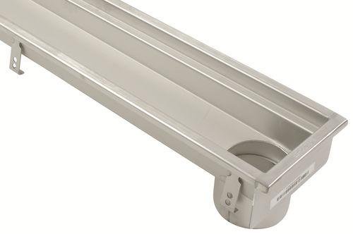 canaletta per terrazza / in acciaio inox