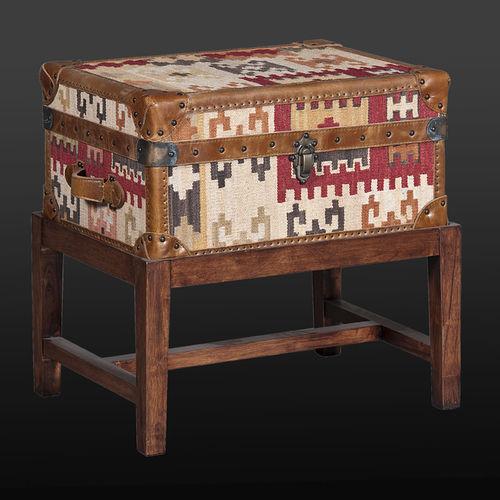tavolo d'appoggio moderno / in legno / rettangolare / con contenitore