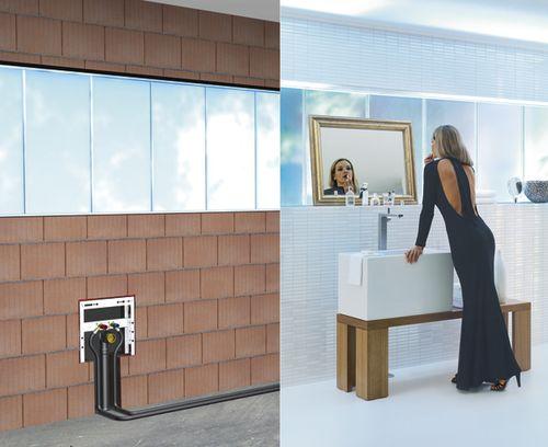 Lavabo sospeso / rettangolare / moderno / con specchio regolabile TECEBOX LAVABO TECE Italia