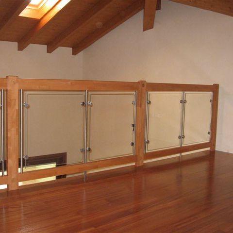 balaustra in vetro / in legno / da interno / per balcone